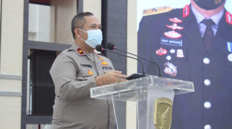Wakapolda Kalbar Brigjen Pol Asep Safrudin Saat Rakor Penanganan Covid-19