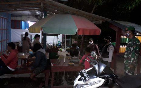 Koramil 1014-03/Kotawaringin Lama melaksanakan Operasi Penegakan Disiplin Protokol Kesehatan